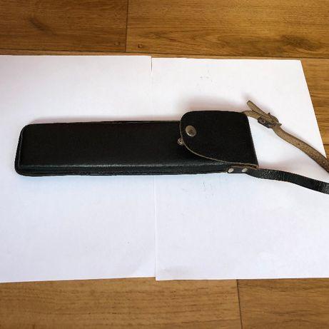 Kabura wojskowa skórzana 27x7x2 cm. pokrowiec