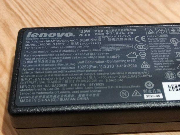 Carregador Original para Portátil Lenovo 120W 20V 6A (NOVO)