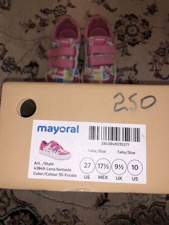 Мокасины Mayoral 27 размер.