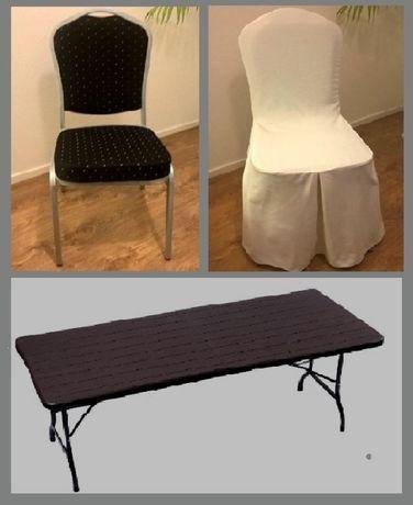 Wypożyczę stoły, krzesła, pokrowce [ bankietowe / cateringowe ] nowe