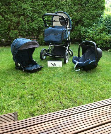 Wózek Mutsy Evo 3w1 + adaptery do fotelika Maxi Cosi