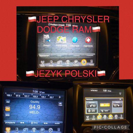 Jeep Dodge Chrysler Ram Jezyk Polski Uconnect Konwersja Usa Mapy 2021