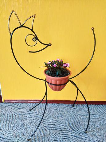 "Декоративная подставка для цветов ""зверушка"""