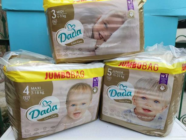 DADA Extra Care Premium, оригінал, памперси дада премиум каре Польща