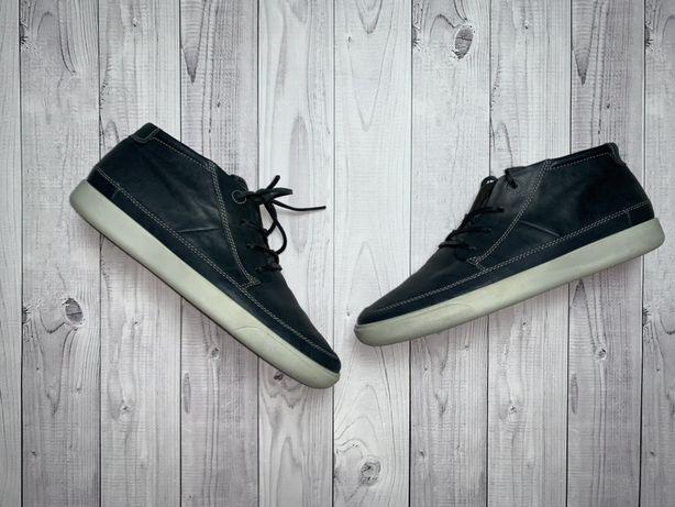 Ботинки туфли дезерты кожаные ecco кожа timberland