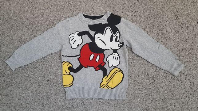 Sweter sweterek 98/104cm H&M Disney Myszka Mickey