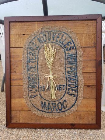 quadro madeira rústico