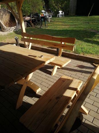 Stół ogrodowy z ławkami!! Komplet ogrodowy drewniany! Meble! Tarasy!