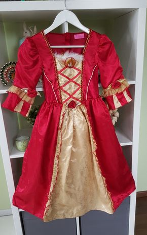 Disney Piękna i Bestia piękna zdobiona suknia / kostium 128