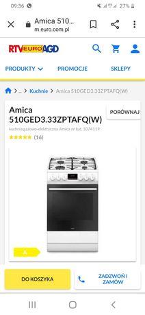 Kuchnia Amica 510GED3.33ZPTAFQ(W)