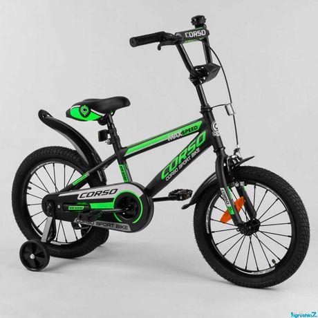 """Велосипед 16"""" дюймов 2-х колёсный CORSO"""