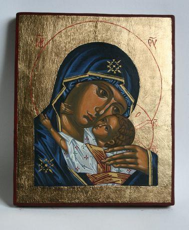 Ikona Matka Boska Umilenie pisana ręcznie