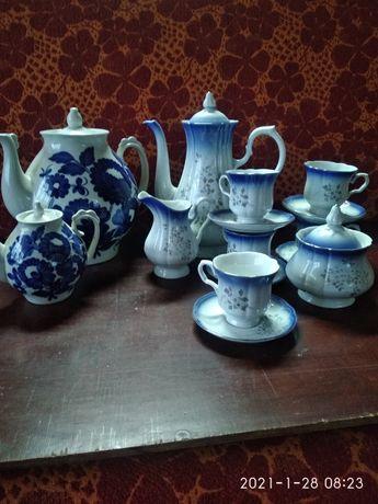 Кофейный сервиз и заварочные чайники
