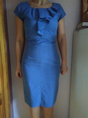 Wiosenna, błękitna sukienka rozmiar 36