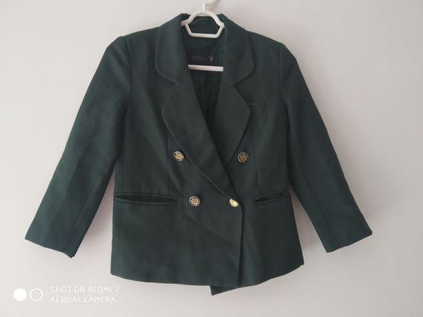 Ластівка пиджак школьный зеленый 8 лет 128-134 см