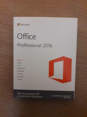 Microsoft Office Professional 2016 BOX NOWY ZAFOLIOWANY !