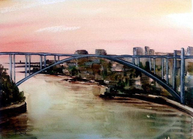 Pintura 2013 - José Barbosa - Arrabida I_- Aguarela_24x31 cm