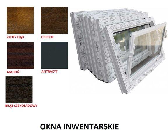 Okna inwentarskie białe/kolor do chlewni, obory, stajni, piwnicy PCV