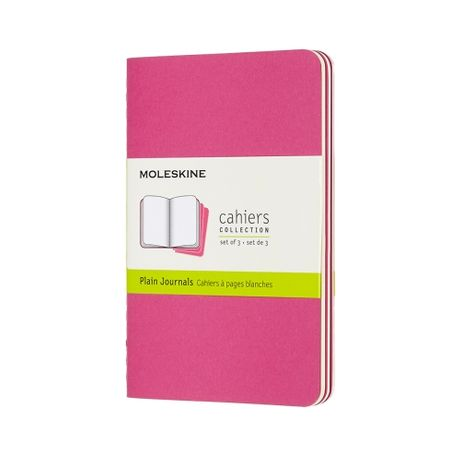 Нотатник Moleskine Cahiers Кишеньковий Нелінований Кінетичний рожевий
