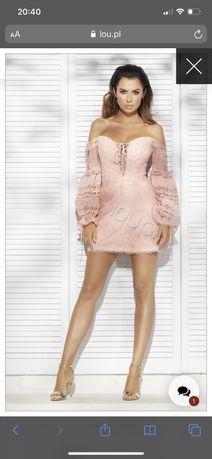 Sukienka Lou womens fashion gipiurowa mini S