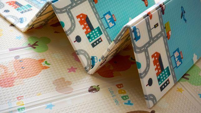 Детский развивающий коврик для ползания, игровой термоковрик