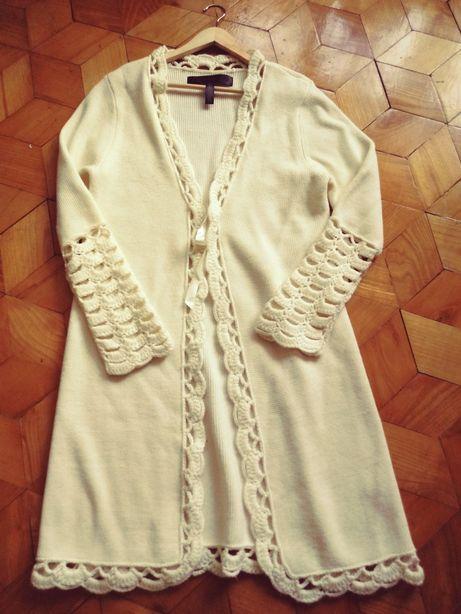 Dlugi płaszcz swetrowy