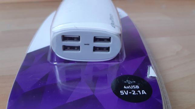 Ładowarka sieciowa zasilacz USB x 4 do telefonu tableta