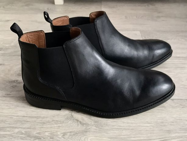 Демисезонные ботинки Clarks натуральная кожа 44 р 29,5 см