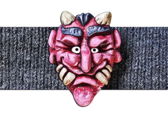 Przypinka, Pins, Azjatycki Diabeł, HandMade