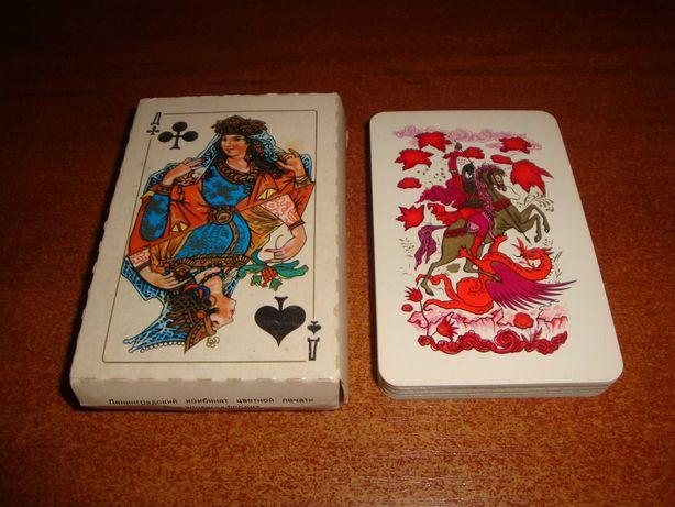 Игральные карты Белый Палех, 1984 г.