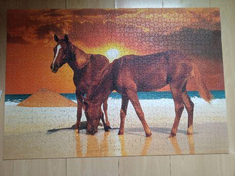 puzzle 1500 trefl konie