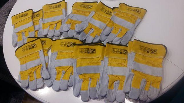 Rękawice robocze wzmacniane skórą bydlęcą roz.10