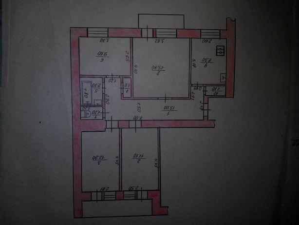 Продам 4 кiмнатну квартиру (чешку) на 15 мiкрорайонi
