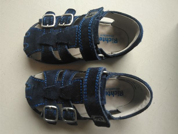 Skórzane sandałki Richter, rozmiar 24, wkładka 15 cm, w świetnym stani