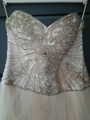 Suknia ślubna kolor szampanski
