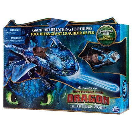 Как приручить дракона 3 большой дракон Беззубик, дышит огнем 50 см