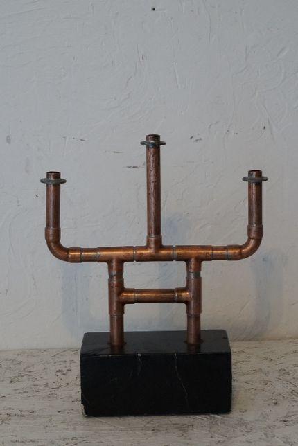 Świecznik Stojący Retro Vintage Industrial