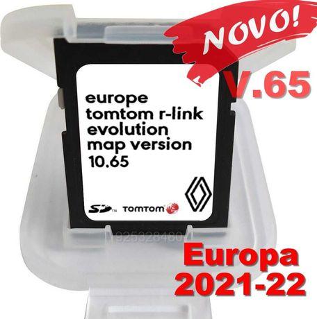 Novo Renault  cartao GPS R-link - 2021-22 Europa - 10.65