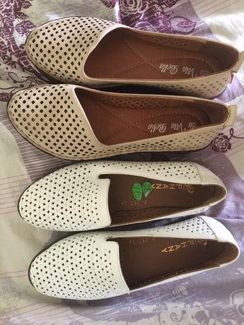 Обувь для девочки школьницы, кожаная