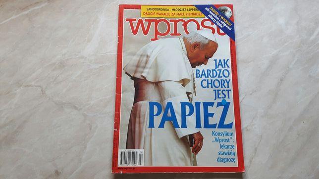 Papież Jan Paweł II Kariera i choroba WPROST czerwiec 2002 rok
