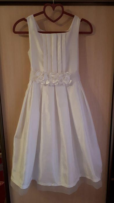 Нарядное белое платье на 10 лет Буча - изображение 1