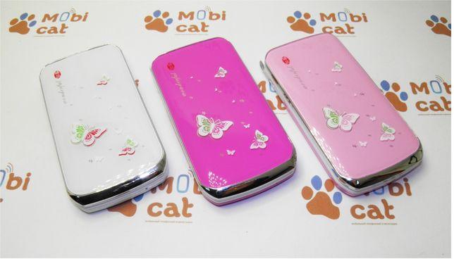 Телефон-раскладушка Guangphone E8 White/Pink/PinkL