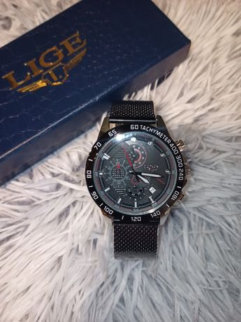 Zegarek męski LIGE czarny