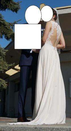 Suknia ślubna ivory rozm. 38 z welonem