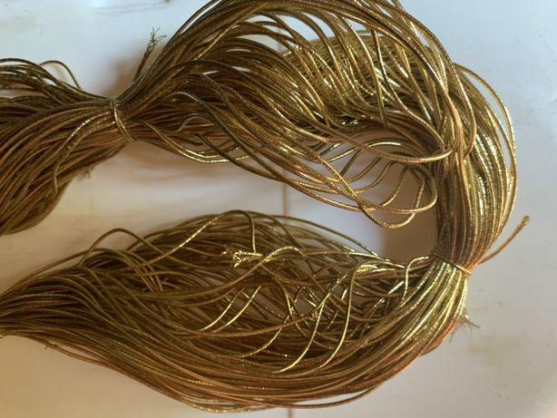 Резинка золотая, декоративная