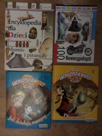 Książki dla dzieci 4 x kolorowe encyklopedie