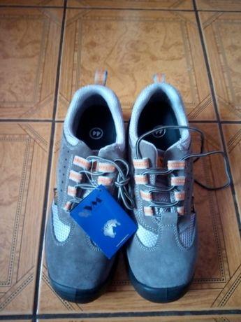 Buty robocze skóra bez podnoska , na lato