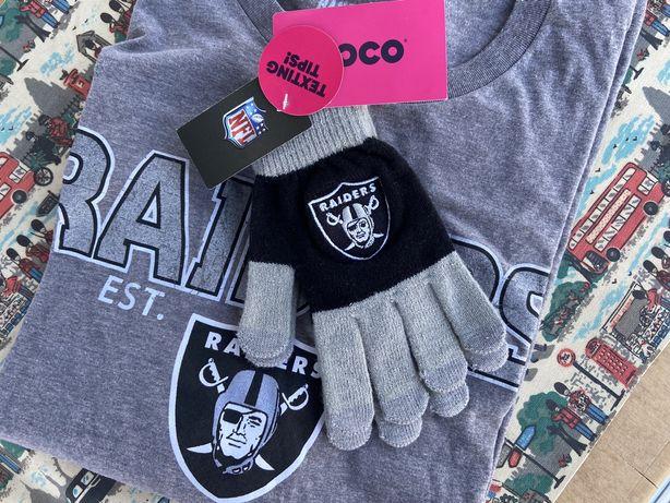 NFL Raiders Las Vegas/Oakland Texting Tips перчатки для смартфона