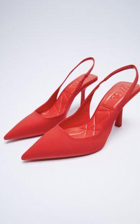 Новые туфли zara красные
