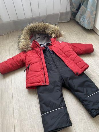 Зимний комбинезон с курткой фирмы Evolution на мальчика 1 - 2 года